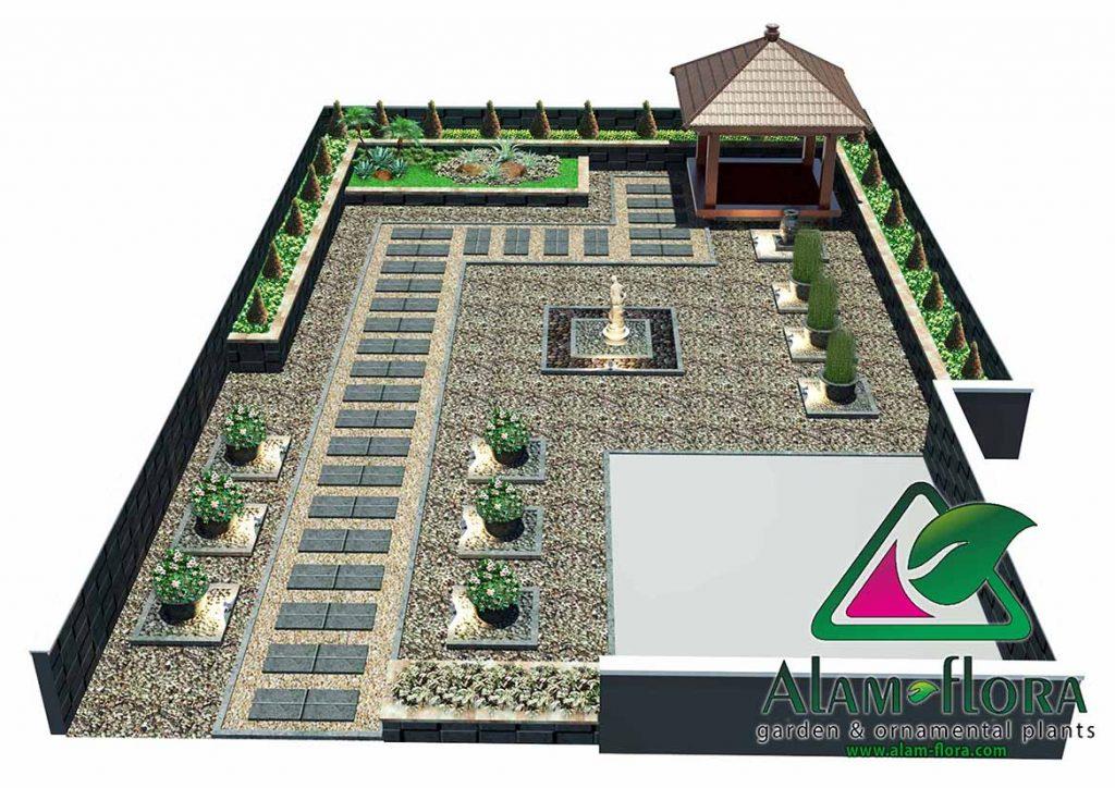 gallery desain taman roof atap 3D dan pengerjaannya 1
