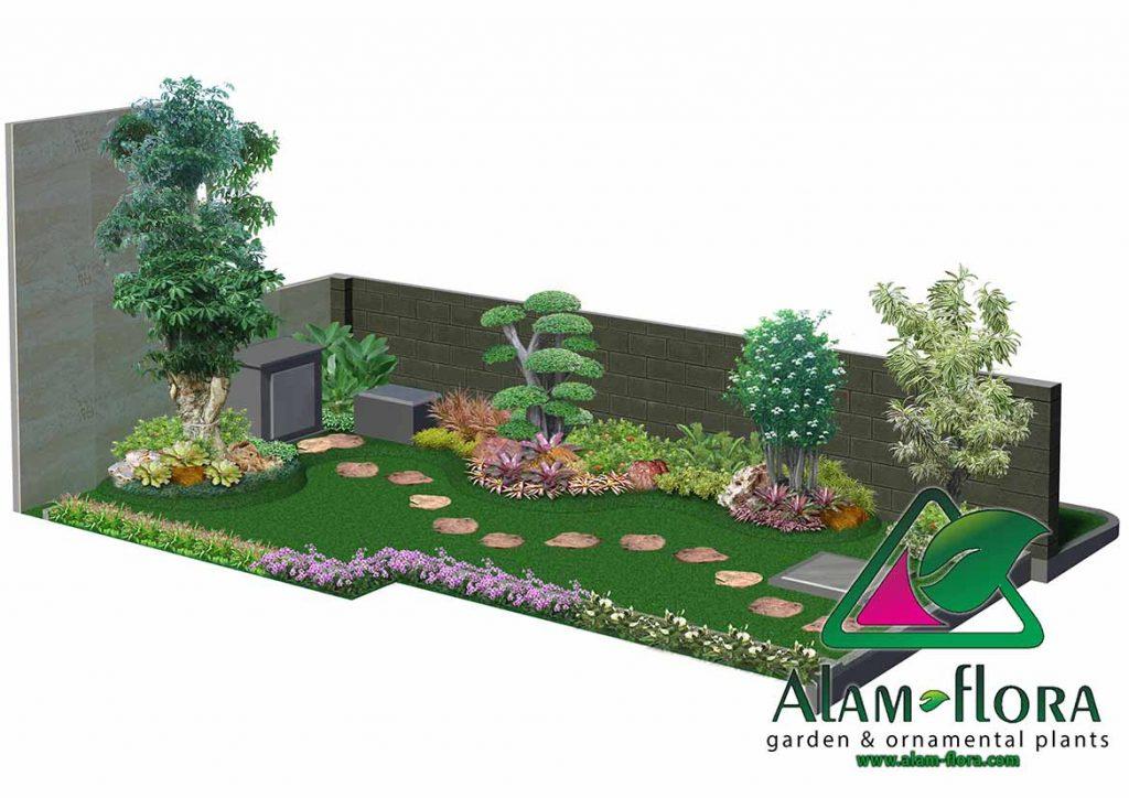 gallery desain taman roof atap 3D dan pengerjaannya 10