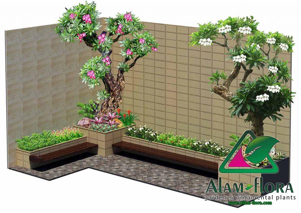 gallery desain taman roof atap 3D dan pengerjaannya 11