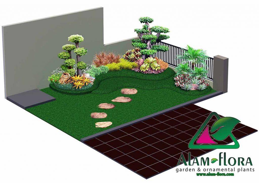 gallery desain taman roof atap 3D dan pengerjaannya 12
