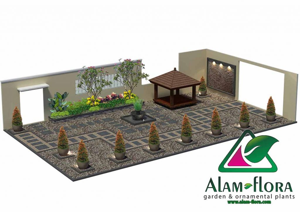 gallery desain taman roof atap 3D dan pengerjaannya 2