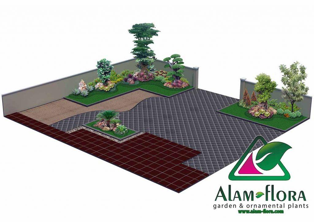 gallery desain taman roof atap 3D dan pengerjaannya 3