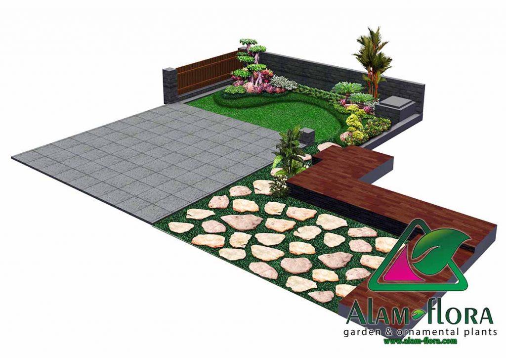 gallery desain taman roof atap 3D dan pengerjaannya 8