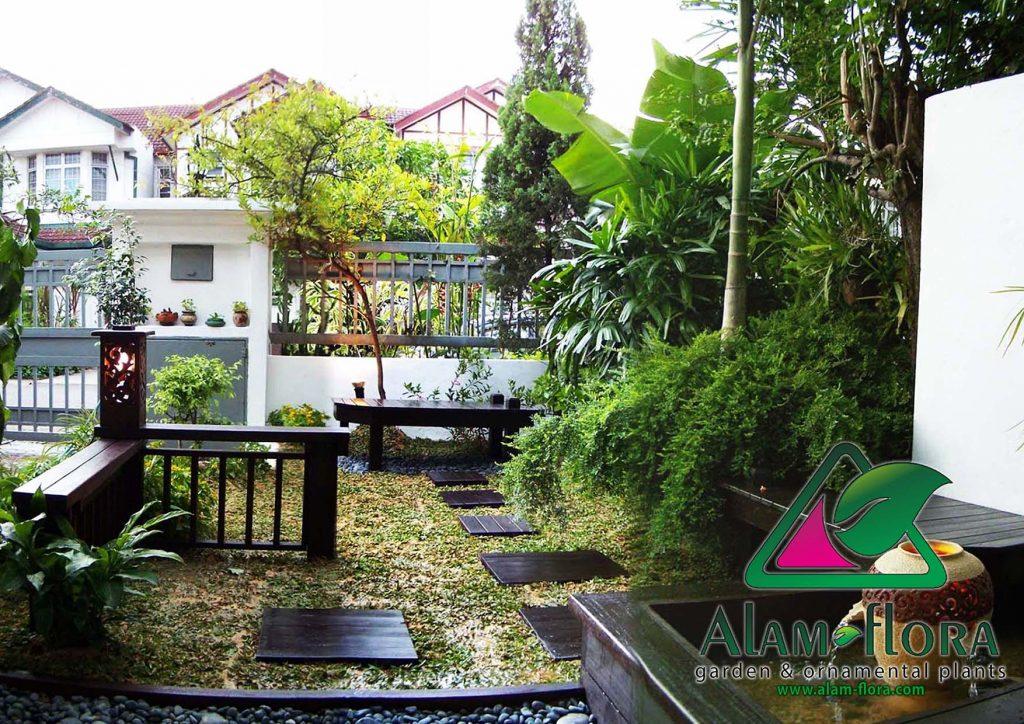 gambar taman rumah minimalis dengan kolam mini depan rumah
