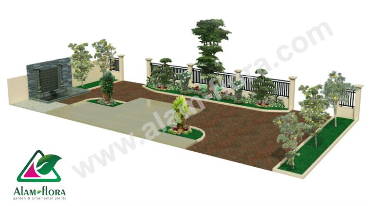 desain taman alam flora