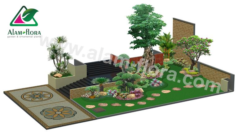 desain taman alam flora 11
