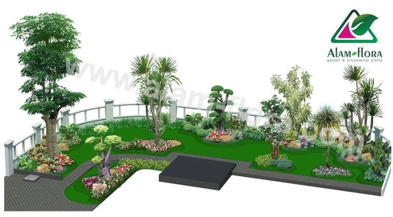 desain taman alam flora 16