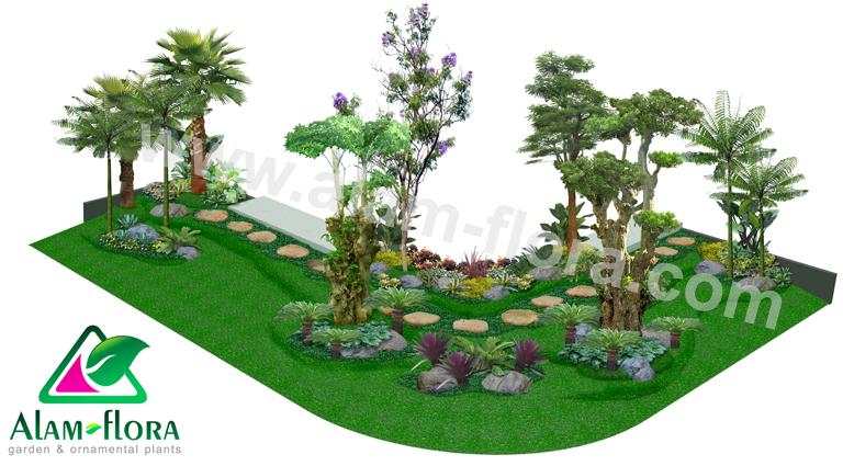 desain taman alam flora 17