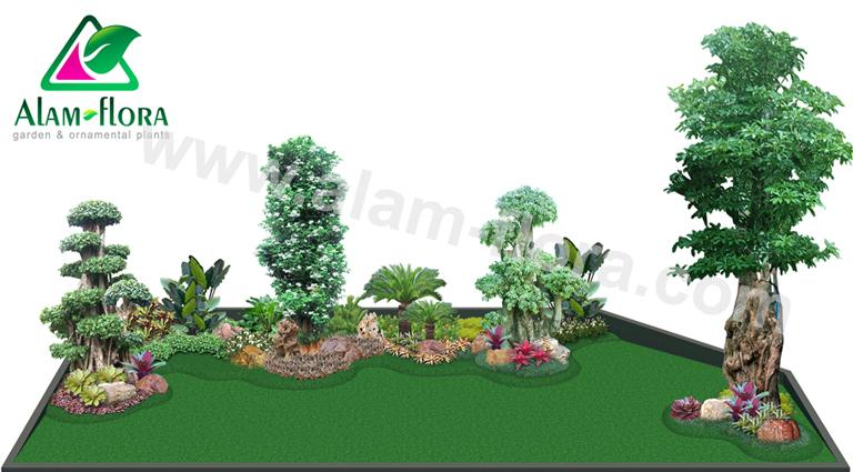 desain taman alam flora 32