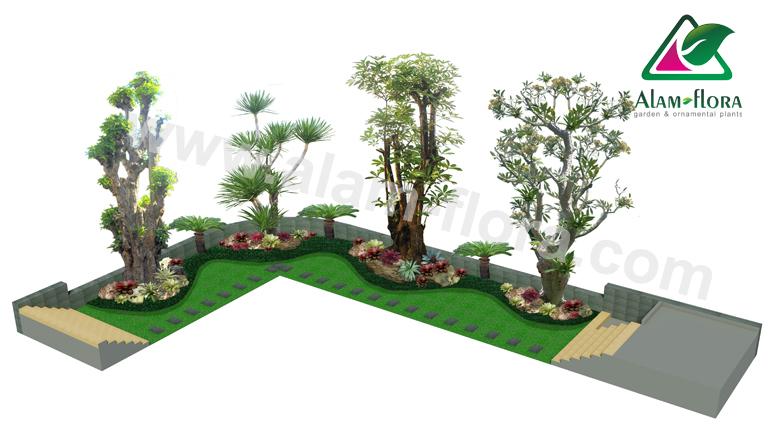 desain taman alam flora 4