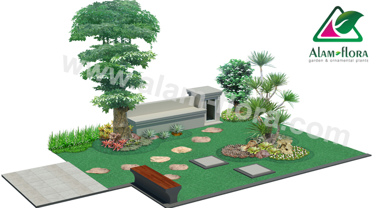 desain taman alam flora 43