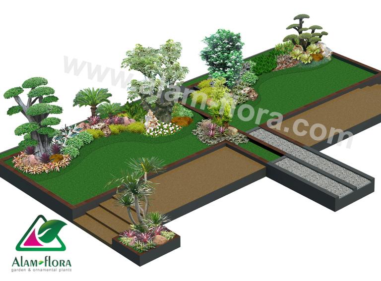 desain taman alam flora 56