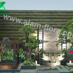 desain taman alam flora 70